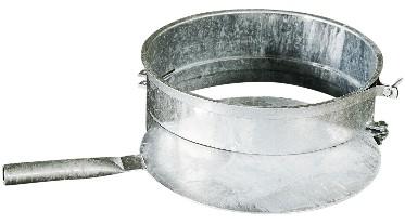 Drehschieber 40 cm ø mit Spannband in feuerverzinkter Ausführung.